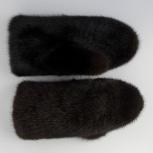 Продам норковые варежки (цвет темно-коричневый), Новосибирск