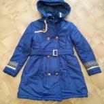 Продам утепленный плащ для девочки размер 140, Новосибирск