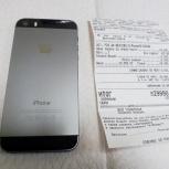 Новый iPhone 5S 16Gb Space Gray (куплен на днях), Новосибирск