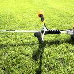 Вспашка земли мотоблоком.Кошение травы мотокосой., Новосибирск