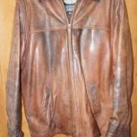Стильная кожаная куртка р.52-54, Новосибирск