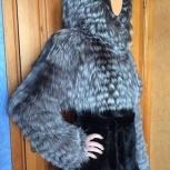 Шуба комбинированная из меха норки и чернобурки, Новосибирск
