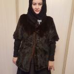 Шуба норковая+перчатки кожа длин. вставки из норки, Новосибирск
