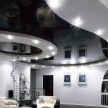 Натяжной потолок под ключ в квартире площадью 75 кв.м. шт., Новосибирск