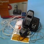 Продам телефон Gigaset C455 siemens с базовой станцией и шнурами, Новосибирск