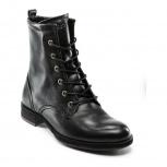 Продам  новые ботинки женские ecco, черные кожаные, типа берцы, замок, Новосибирск