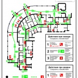Планы эвакуации, чертежи, схемы, Новосибирск
