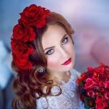 Свадебные и торжественные прически,профессиональный макияж!, Новосибирск