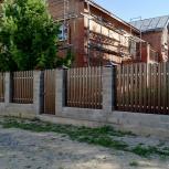 Монтаж кирпичных заборов. Гарантия, Новосибирск