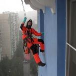 Промышленный альпинист, высотные работы, Новосибирск