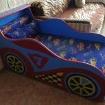 Кровать детская Машинка синяя, Новосибирск