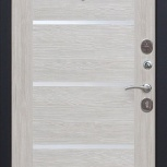 Входная дверь Троя 100 Серебро - Царга Лиственница беж, Новосибирск