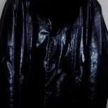 Продам фирменую мужскую зимнюю куртку из натуральной кожи и меха!, Новосибирск