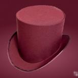 Шляпа цвета бургундского вина для свадьбы, Новосибирск