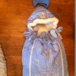 Продаю меховой конверт Baby Elite с шапочкой, Новосибирск