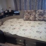 продам угловой диван раздвижной с креслом ткань велюр, Новосибирск