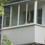 Остекление балконов и лоджий алюминиевой конструкцией( м/кв), Новосибирск