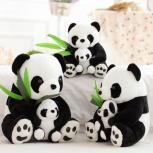 Панды аврора от 35см + маленькая панда, Новосибирск