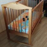 Детская кровать-качалка + матрас, Новосибирск