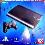 Sony PlayStation 3 Super Slim 500Gb один джойстик, Новосибирск