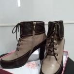 Женские бежево-коричневые ботинки, р.38, Новосибирск