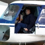 Полёты на авиатренажёре вертолёта Ми-2., Новосибирск