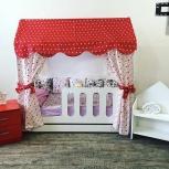 Кровать детская домик с ортопед матрасом доставка и сборка бесплатно, Новосибирск