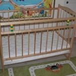 Продам детскую кроватку с матрасом., Новосибирск