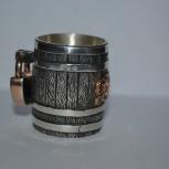 Серебряная стопка с золотыми фрагментами ., Новосибирск