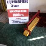 Продам аттракцион неудержимое бревно, Новосибирск