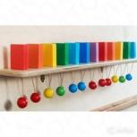 """Тактильно-развивающая панель """"Разноцветное домино"""", Новосибирск"""
