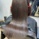 Кератиновое выпрямление, кератиновое восстановление волос, Новосибирск