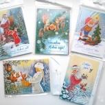5 новых новогодних наборов открыток (39 шт), Новосибирск