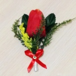 """Свадебные бутоньерки для жениха """"Красные тюльпаны"""", Новосибирск"""