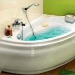 Акриловые ванны угловые, асимметричные, классические, Новосибирск