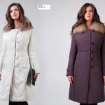 Зимнее пальто доротея с мехом енота 44 размера, Новосибирск