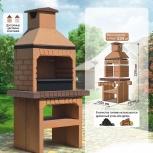 Печь барбекю c доставкой, собрать как lego, Новосибирск