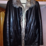 Куртка зимняя кожаная на меху новая, Новосибирск
