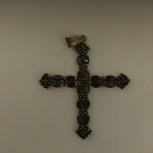 Крест серебряный с гранатами, Новосибирск