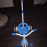 Продам детский трёхколёсный велосипед с ручкой, Новосибирск