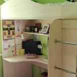Продам кровать-чердак+шкаф+стол+матрас, Новосибирск