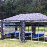 Армейский штабной шатер, палатка в аренду, Новосибирск