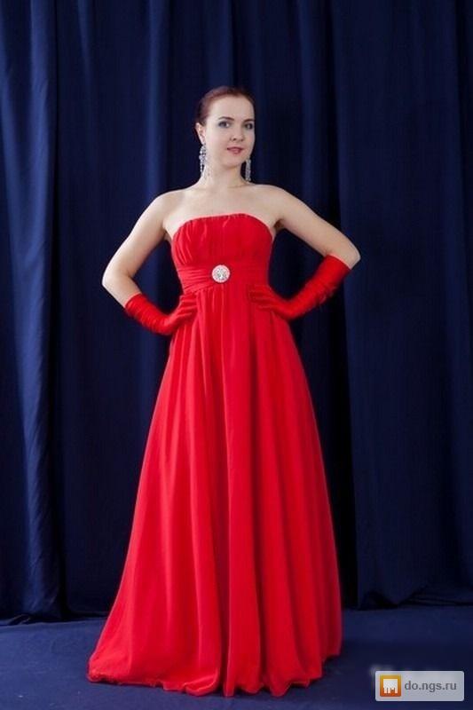Красное вечернее платье прокат
