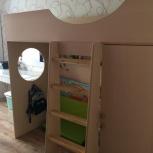 Детская двухярусная кровать со встроенным шкафом, Новосибирск