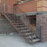Лестница в дом. Крыльцо, Новосибирск