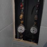 Установка водосчетчиков. Счетчики воды, Новосибирск