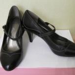 Туфли женские чёрные, натуральная кожа, Новосибирск