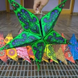 Светильник звезда из бумаги, Новосибирск