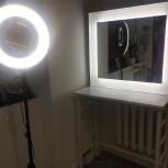 Стол визажиста с зеркалом и освещением + стул, Новосибирск