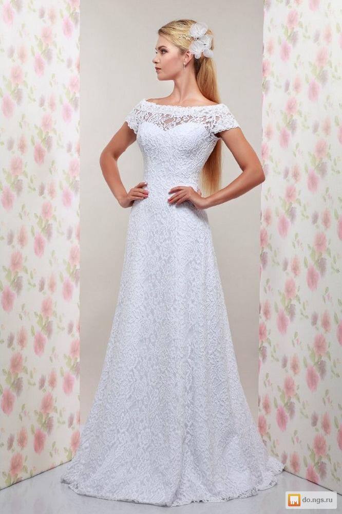 Кружевные свадебные платья цены